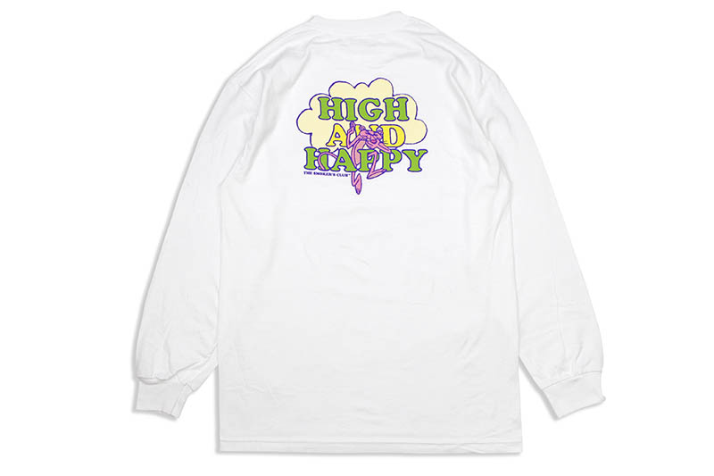 THE SMOKER'S CLUB HIGH AND HAPPY LONG SLEEVE TEE (WHITE)