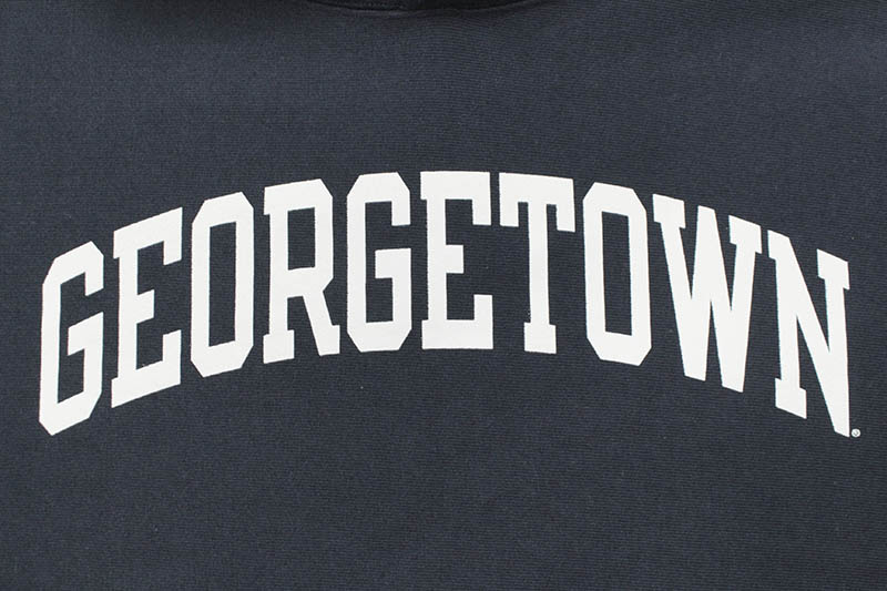 CHAMPION GEORGETOWN UNIVERSITY REVERSE WEAVE HOODED SWEATSHIRT (NAVY)