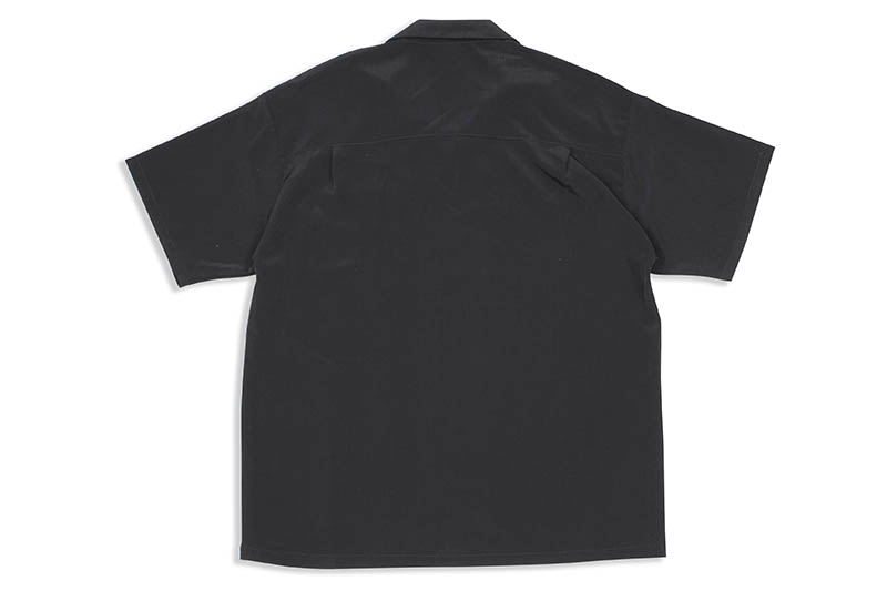 CALTOP SOLID BUTTON UPS DRESS CAMP SHIRT (#3003:BLACK)