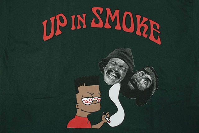 COMMUNITY 54 UP IN SMOKE S/S T-SHIRT (DARK GREEN)