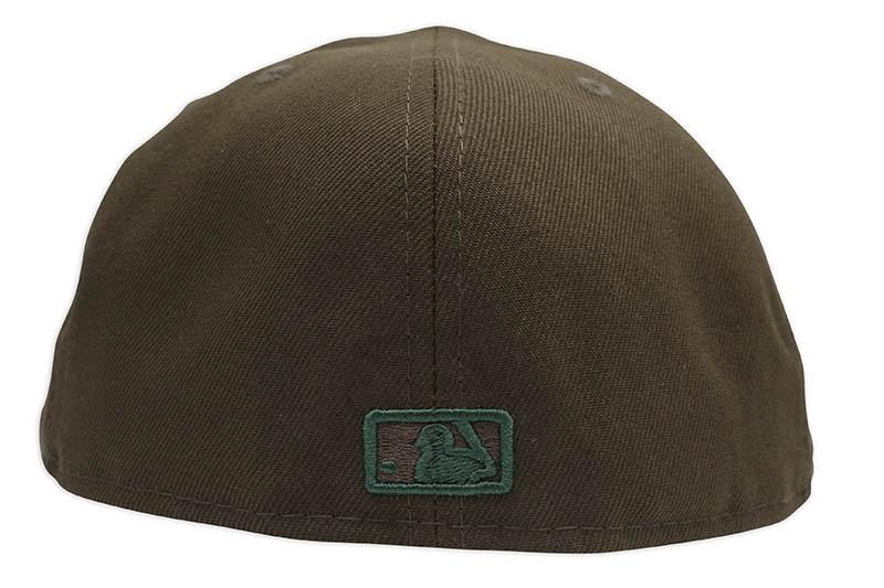 NEW ERA NEW YORK YANKEES 59FIFTY FITTED CAP (GREY UNDER VISOR/WALNUT&DARK GREEN)