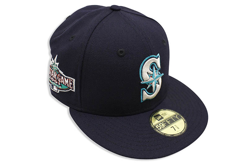 NEW ERA SEATLE MARINERS 59FIFTY FITTED CAP (2001 ALL-STAR GAME SIDE PATCH/NAVY)