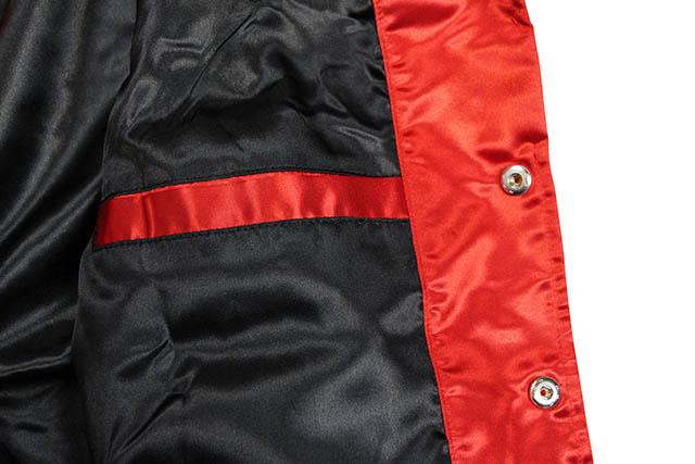MITCHELL & NESS x TIMBERLAND SATIN TRACK JACKET (RED)