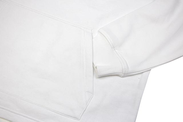 CALVIN KLEIN JEANS BOXY FIT MONOGRAM LOGO TAPE HOODIE (41Q9031-103:BRILLIANT WHITE)