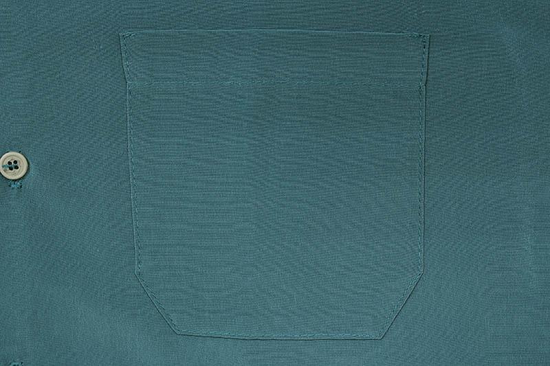 CALTOP SOLID BUTTON UPS DRESS CAMP SHIRT (#3003:SAGE BLUE)
