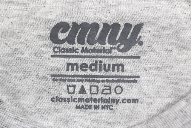 """CLASSIC MATERIAL NY """"2PAC PASSPORT/CMLA"""" T-SHIRT (SILVER GREY)"""