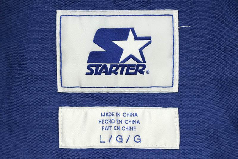 STARTER NEW YORK GIANTS HALF ZIP HOODED PULLOVER JACKET (LS900066:BLUE)
