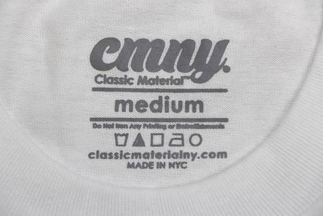 """CLASSIC MATERIAL NY """"2PAC PASSPORT/CMLA"""" T-SHIRT (WHITE)"""