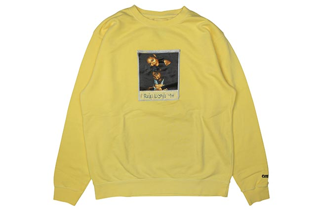 "CLASSIC MATERIAL NY ""REAL LOVE/CMLA"" CREW (PIGMENT YELLOW)"