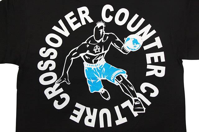PLEASURES CROSSOVER T-SHIRT (BLACK)