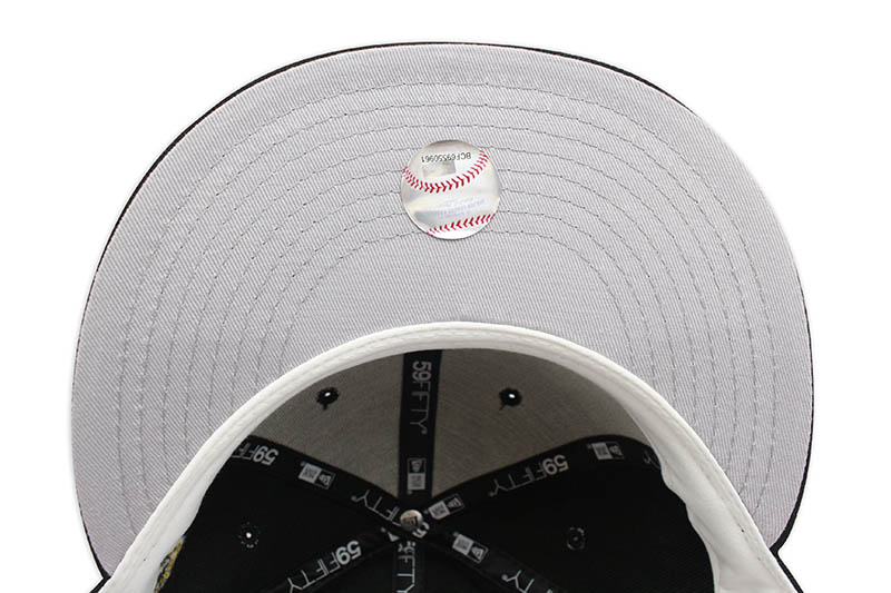 NEW ERA PITTSBURGH PIRATES 59FIFTY FITTED CAP (1971 WORLD SERIES SIDE PATCH/GREY UNDER VISOR/BLACK)