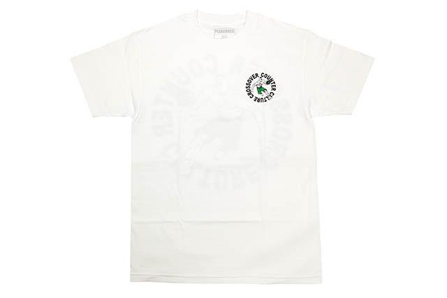 PLEASURES CROSSOVER T-SHIRT (WHITE)