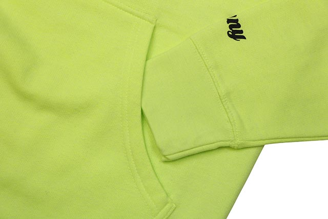 CLASSIC MATERIAL NY 93 TILL HOODY (BRIGHT LIME)