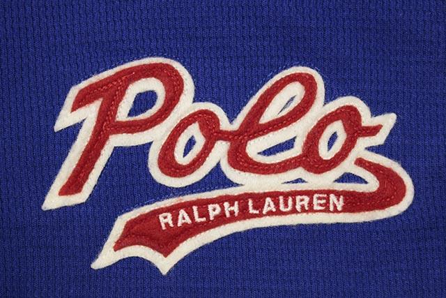 POLO RALPH LAUREN SCRIPT APPLIQUE WAFFLE-KNIT THERMAL SHIRT (PW16HF-NR2:BLUE)