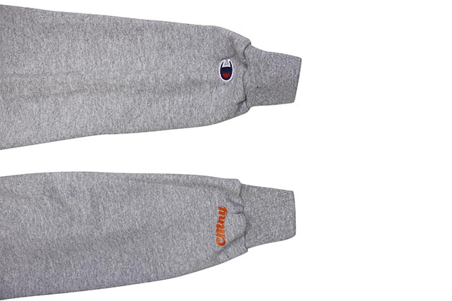 "CLASSIC MATERIAL NY CONWAY COLAB ""OMAR'S COMING"" CHMPION HOODIE (GREY)"
