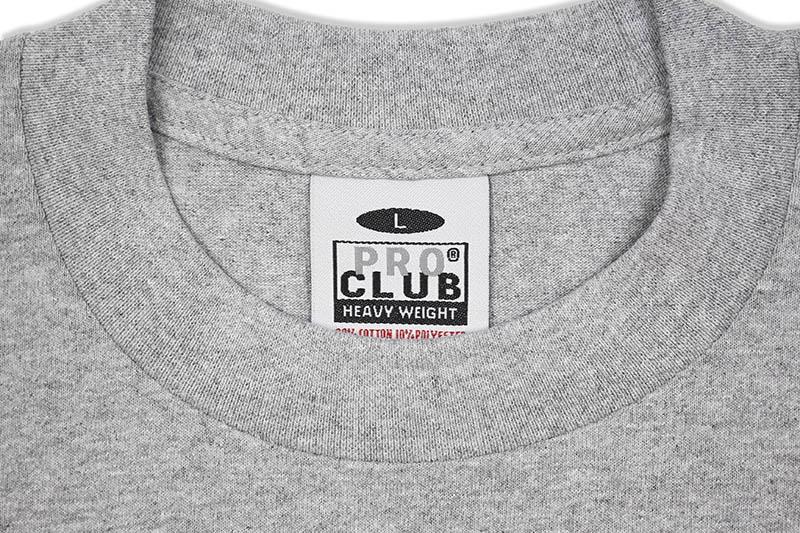 PRO CLUB HEAVYWEIGHT S/S CREW NECK TEE (HEATHER GRAY)