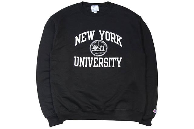 CHAMPION NYU CREWNECK SWEATSHIRT (BLACK)