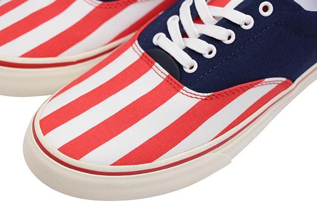 POLO RALPH LAUREN THORTON USA FLAG SNEAKER (816740548001:NAVY/RED/WHITE)