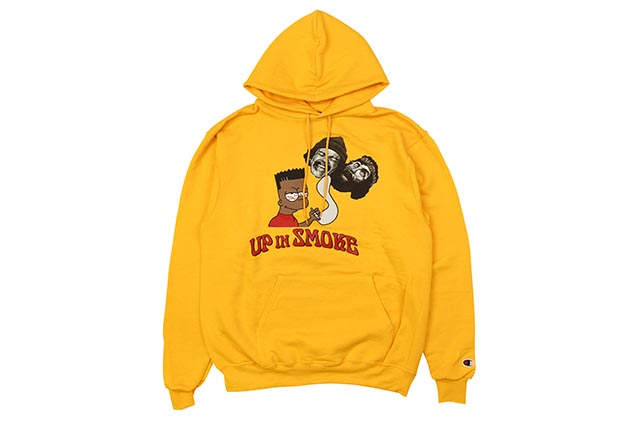 COMMUNITY 54 UP IN SMOKE HOODY GOLD)