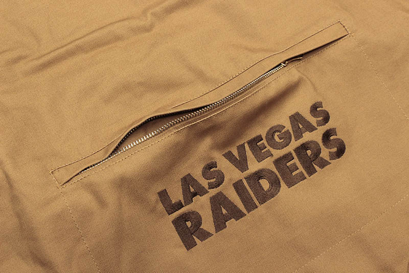 G-III SPORTS LAS VEGAS RAIDERS QUILT-LINED DUCK VEST