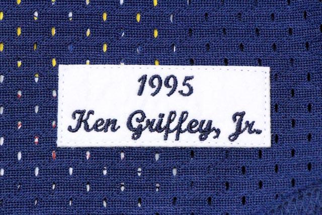 MITCHELL&NESS SEATTLE MARINERS 1995 AUTHENTIC MESH BATTING PRACTICE JERSEY KEN GRIFFEY JR.