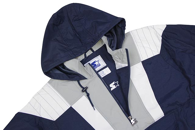 STARTER NEW YORK YANKEES HALF ZIP HOODED PULLOVER JACKET (LS950833-NYY)