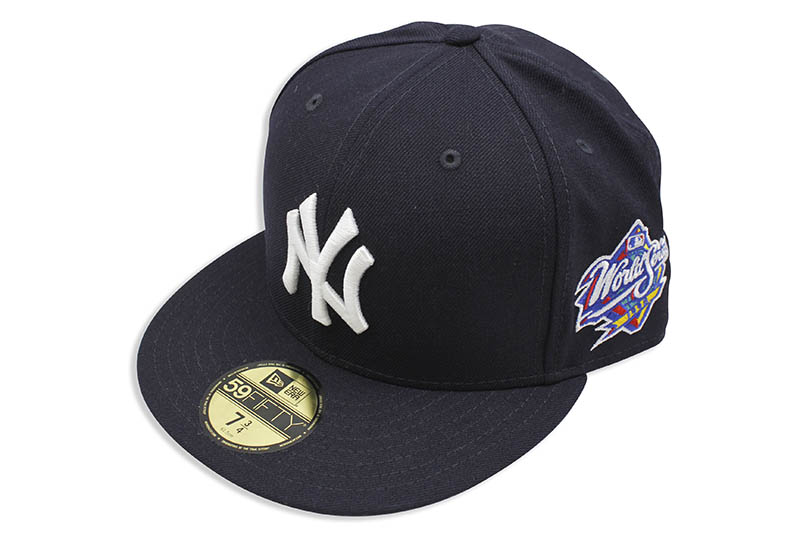 NEW ERA NEW YORK YANKEES 59FIFTY FITTED CAP (1998 WORLD SERIES SIDE PATCH/NAVY)