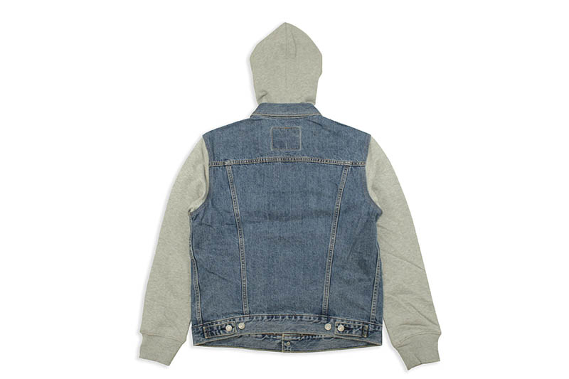LEVI'S HYBRID HOODED TRUCKER JACKET (745130000:MEDIUM WASH)