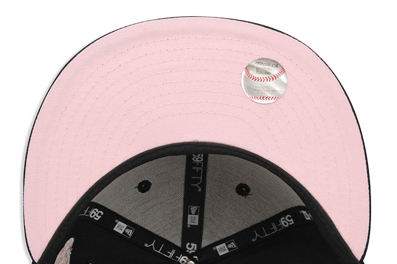 NEW ERA NEW YORK YANKEES 59FIFTY FITTED CAP (1976 WORLD SERIES SIDE PATCH/PINK UNDER VISOR/NAVY)
