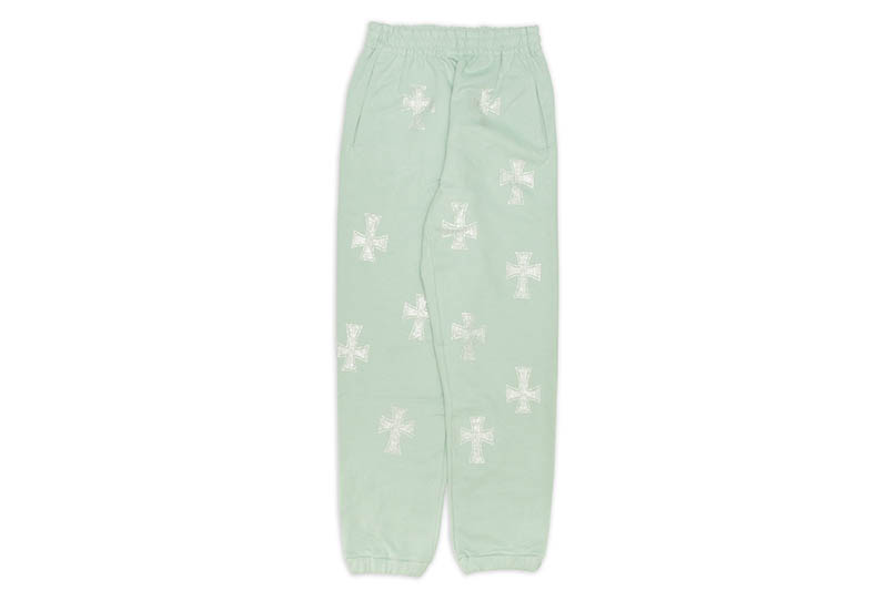 UNKNOWN LONDON CROSS RHINESTONE JOGGER (TURQUOISE/CLEAR STONE)