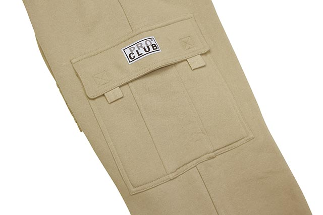 PRO CLUB HEAVYWEIGHT FLEECE CARGO PANTS (KHAKI)