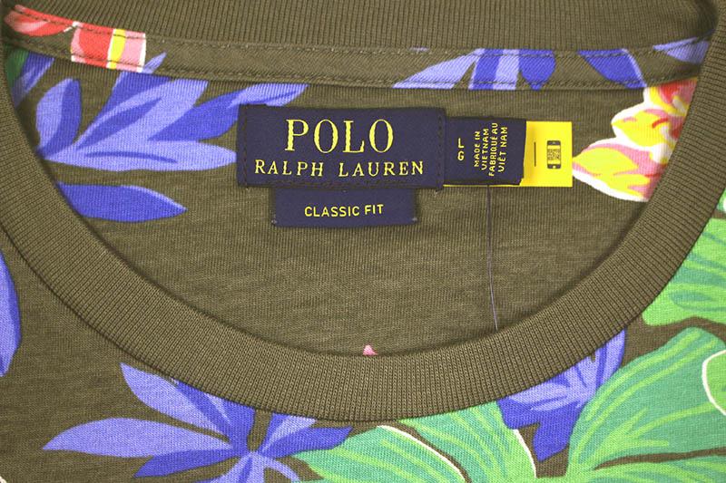 POLO RALPH LAUREN CLASSIC FIT FLORAL T-SHIRT (710795248001:SURPLUS TROPICAL)