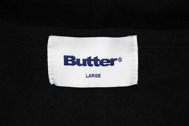 BUTTER GOODS CLASSIC LOGO PULLOVER (BLACK)