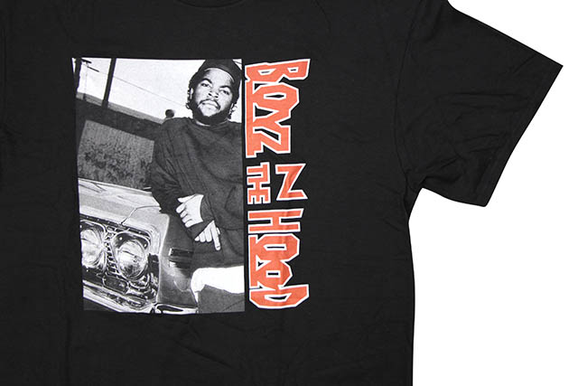 BOYZ N THE HOOD VERTICAL T-SHIRT (BLACK)