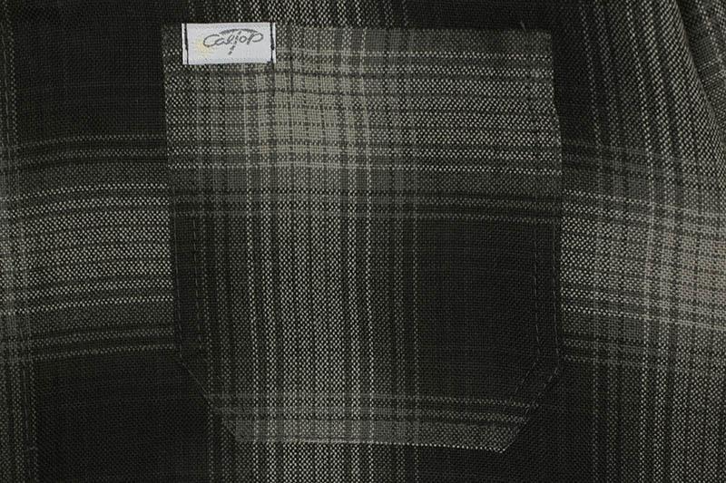CALTOP PLAID FLANNEL LONG SLEEVE SHIRT (#2000:BLACK/CHARCOAL)