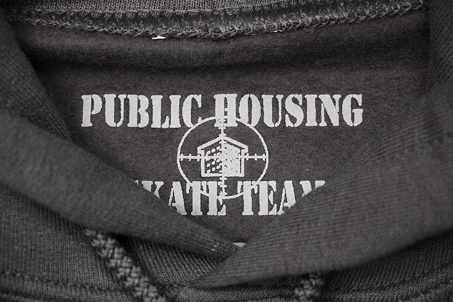 PUBLIC HOUSING SKATE TEAM HELICOPTER HOODIE (CHARCOAL GREY)
