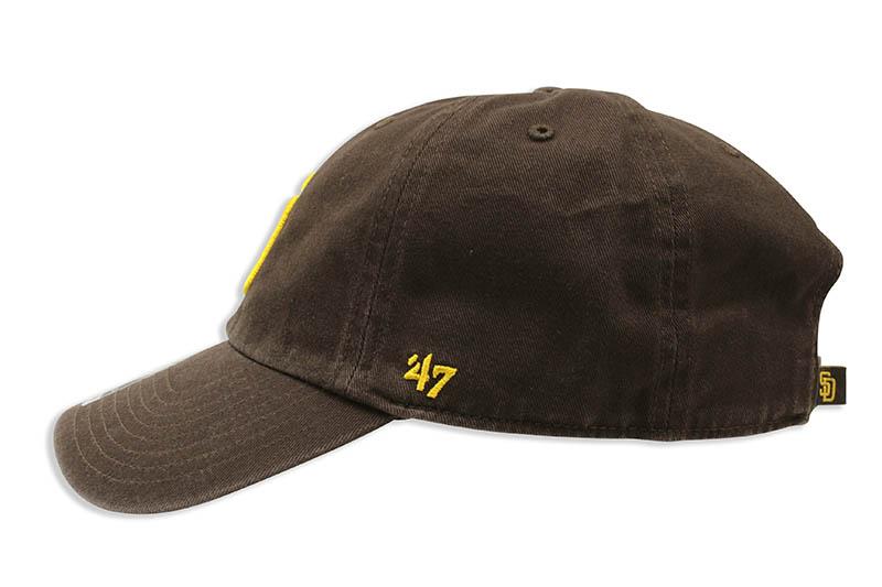 47 BRAND SAN DIEGO PADRES CLEAN UP CAP (BROWN)