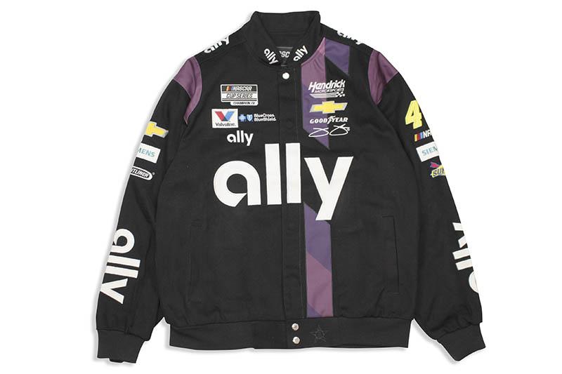 JH Design JIMMIE JOHNSON ALLY 2020 NASCAR TWILL JACKET (JJ0303AY20:BLACK)