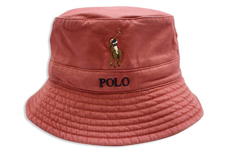 POLO RALPH LAUREN STRETCH-COTTON BUCKET HAT (710787242002:NANTUCKET RED)