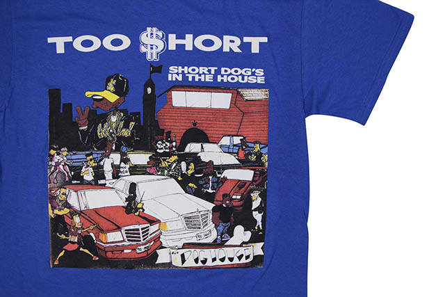 TOO SHORT SHORT DOG'S IN THE HOUSE T-SHIRT (BLUE)