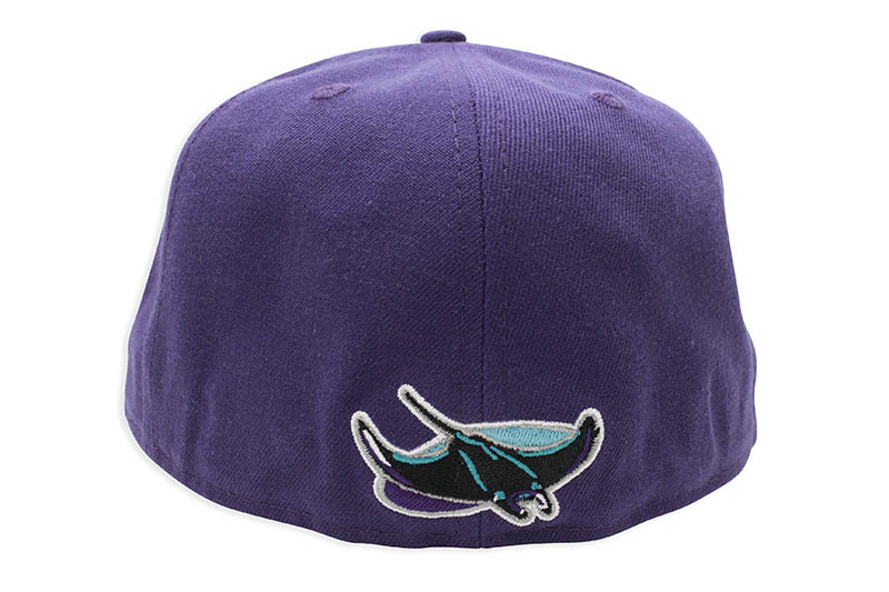 NEW ERA TAMPA BAY RAYS 59FIFTY FITTED CAP (SKY BLUE UNDER VISOR/PURPLE)