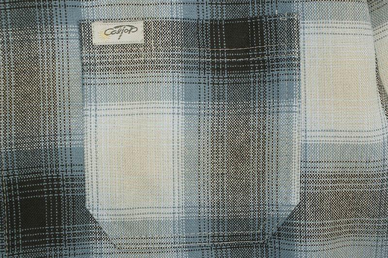 CALTOP PLAID FLANNEL LONG SLEEVE SHIRT (#2000:SKY BLUE/GRAY)