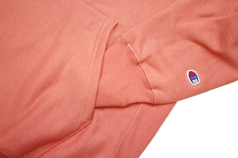 CHAMPION LIFE REVERSE WEAVE PULLOVER HOODIE (CITRUS PINK)