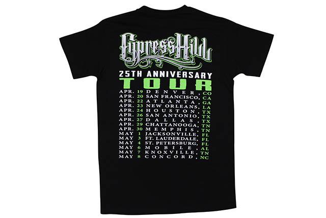 CYPRESS HILL 25TH ANNIVERSARY TOUR T-SHIRT (BLACK)