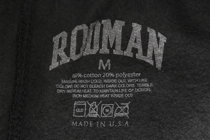 RODMAN BRAND RETRO LOGO SHORTS (BLACK)