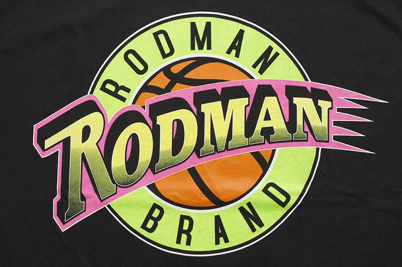 RODMAN BRAND RETRO LOGO TEE (BLACK)