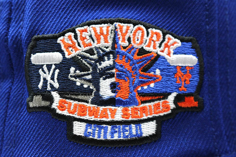 NEW ERA NEW YORK METS 59FIFTY FITTED CAP (SUBWAY SERIES CITI FIELD SIDE PATCH/ROYAL BLUE)