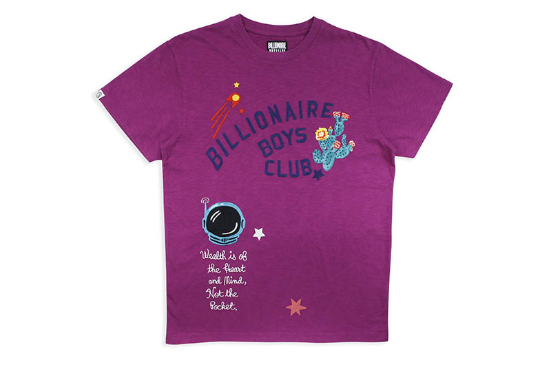 BILLIONAIRE BOYS CLUB BB ROV SS KNIT (811-1315:HOLLYHOCK)