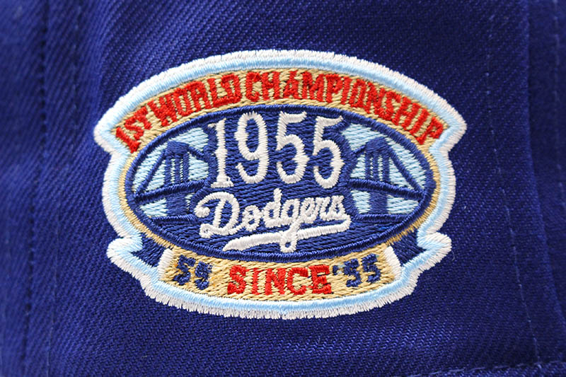 NEW ERA BROOKLYN DODGERS 59FIFTY FITTED CAP (1955 WORLD CHAMPIONSHIP PATCH/DARK ROYAL)