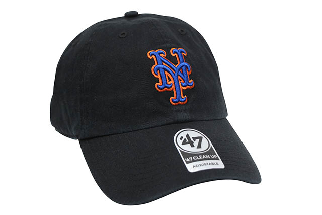47 BRAND NEW YORK METS '47 CLEAN UP CAP (BLACK)